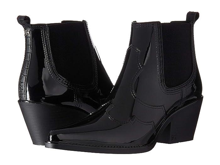 Vintage Boots- Buy Winter Retro Boots Sam Edelman Winona Rain Black Shiny PVC Womens Shoes $35.98 AT vintagedancer.com