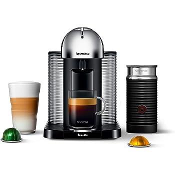 Nespresso Vertuo Coffee and Espresso Machine by Breville with Aeroccino, Chrome
