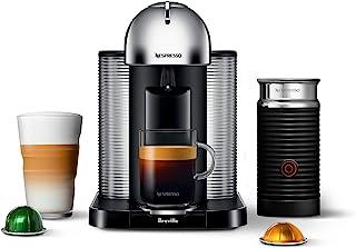 Breville BNV250CRO1BUC1 Vertuo Coffee and Espresso Machine, 15.511.514.75 in, Chrome