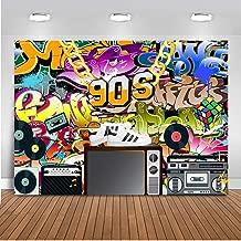 Mocsicka 90s Party Backdrop Hip Pop Graffiti 90s Photography Background 7x5ft Vinyl 90s Birthday Party Banner Backdrops