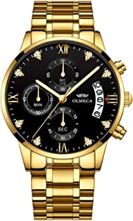 gold and green mens watch
