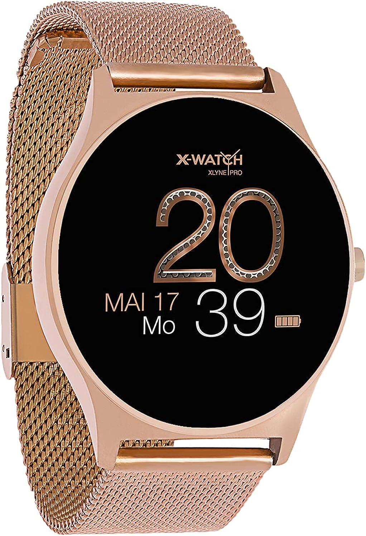 X-Watch JOLI XW PRO Damen Smartwatch Armbanduhr Touch-Farbdisplay Fitnesstracker Pulsuhr Blutdruckmesser Schrittzähler Damen Smart Watch mit…