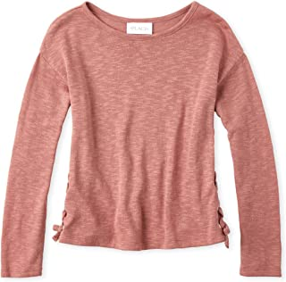 Girls' Big Solid Long Sleeve Sweater