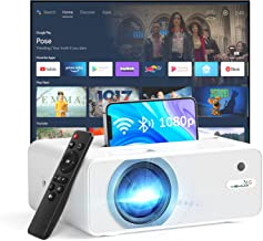"""YEHUA WiFi Projector, 4K HD Outdoor Projector Mini Projector with Remote, 1080P & 200"""" Screen Supported, Movie Home Theate..."""