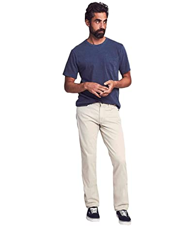 Faherty Comfort Twill Five-Pocket (Stone) Men