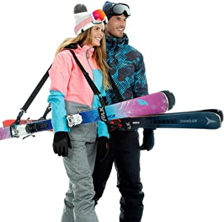 Volk Ski Strap and Pole Carrier 2 Pack – Skiing Accessory for Easy Transportation..