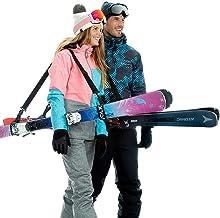 بند اسکی Volk و Pole Carrier 2 Pack - لوازم جانبی اسکی برای حمل و نقل آسان چرخ دنده اسکی - پیاده روی راحت از کوه و کوه - احساس قابل تنظیم برای مردان ، زنان و کودکان