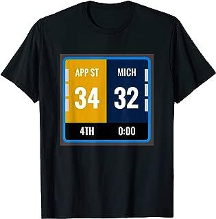 Appalachian T Shirt Fan Scoreboard Football Funny Michigan