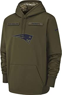 Nike Men's New England Patriots Therma Fit Pullover STS Hoodie