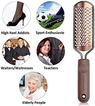Foot Scrubber Pedicure Foot File - Callus Remover for feet Ejiubas Professional Foot File Rasp Colossal Feet Scrubber...