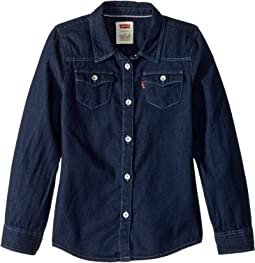 Western Long Sleeve Denim Top (Toddler)