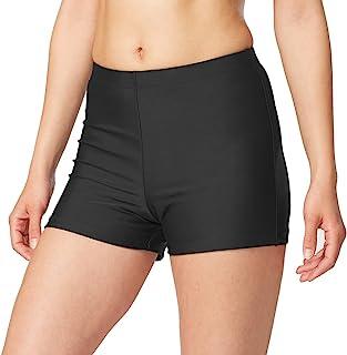 BALEAF Women's Basic High Waisted Boy Short Swim Bikini Tankini Bottom with Liner