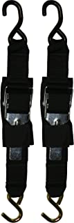 Rod Saver Paddle Buckle 2 inch Trailer Tie-Downs (4 Feet), Pair (2PB4)