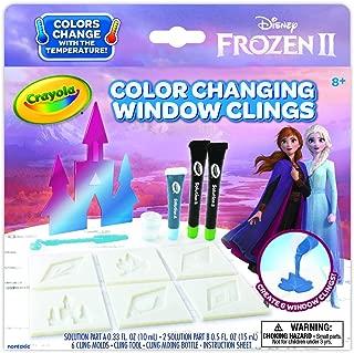 Crayola Frozen 2 Window Clings, Color Changing Custom Window Clings, Frozen Gift, Age 5, 6, 7