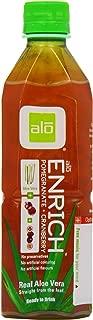 ALO Enrich Aloe Vera Juice Drink Pomegranate Plus Cranberry 16.9  Fl. Oz (Pack of 12) Cane-Sugar Sweetened Aloin-Free No Artificial Flavors Preservatives or Colors Gluten Free Vegan