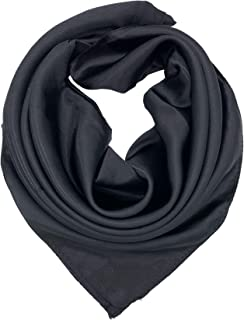 YOUR SMILE Silk Feeling Scarf Women's Fashion Pattern & Solid Color Large Square Satin Headscarf