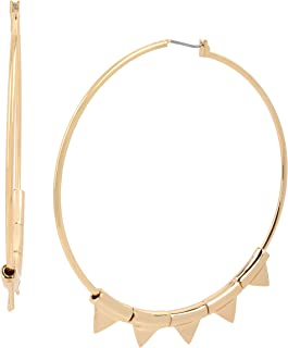 BCBGeneration Triangle Charm Hoop Earrings, GOLD (298462GLD710)