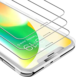 UNBREAKcable Screen Protector for iPhone Xs/iPhone X 5.8 Inch [3-Pack], [Free Installation Frame] 9H Premium Tempered Glass Screen Protector for iPhone Xs/iPhone X, Face ID Protective, Case Friendly