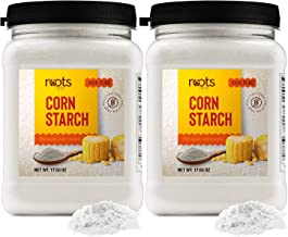 Roots Circle 100% Pure Corn Starch | 2 [17oz] Airtight Containers | All Natural Thickener for Soups, Stews, Gravy, Baking ...