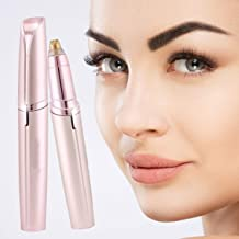 RYLAN Portable Eyebrow, Face, Lips, Nose Hair Removal Painless Electric Trimmer with Light, Hair Removal Machine For Women (Pink)