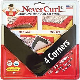 NeverCurl Best V Shape Design Gripper to Instantly Stops Rug Corner Curling. Safe for Wood Floors. for Indoor & Outdoor Ru...