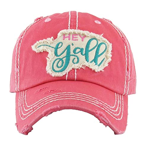 Kbethos Trading Women s Hey Y all Southern Vintage Patch Baseball Hat Cap e4ce4dbc647a
