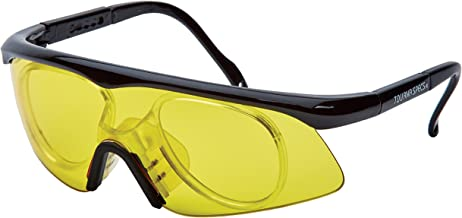 Unique Sports Tourna Specs Protective Eyewear Yellow Tint with Prescription Adapter