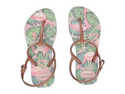 Havaianas Kids Freedom Print Sandals (Toddler/Little Kid/Big Kid) (Rose Nude) Girls Shoes