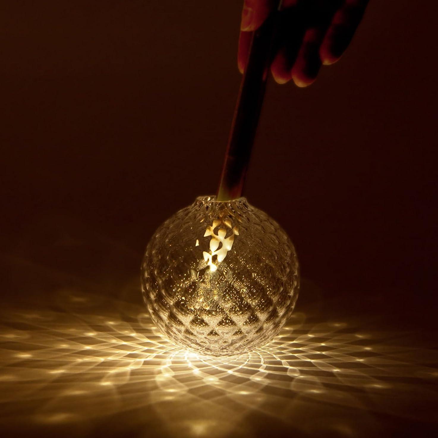 焼くまとめる領域Kvel (クベル) - 音を使って「光の花」を咲かせる LEDキャンドルライト - 本体