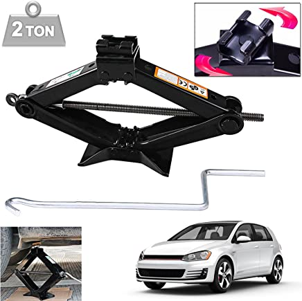 dicn Rustproof Scissor Jack Tonne Capacity 105-385mm with Crank Handle for Ford Mercedes BMW Vauxhall Nissan Toyota Chevrolet