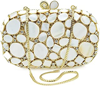 Runhuayou Luxury Rhinestone And Diamond Shell Acrylic Banquet Party Evening Bags Fashion Amber Wedding Do Bride Bridesmaid Clutches Bags Chain Shoulder Bag For Women Suitable for females of all ages o