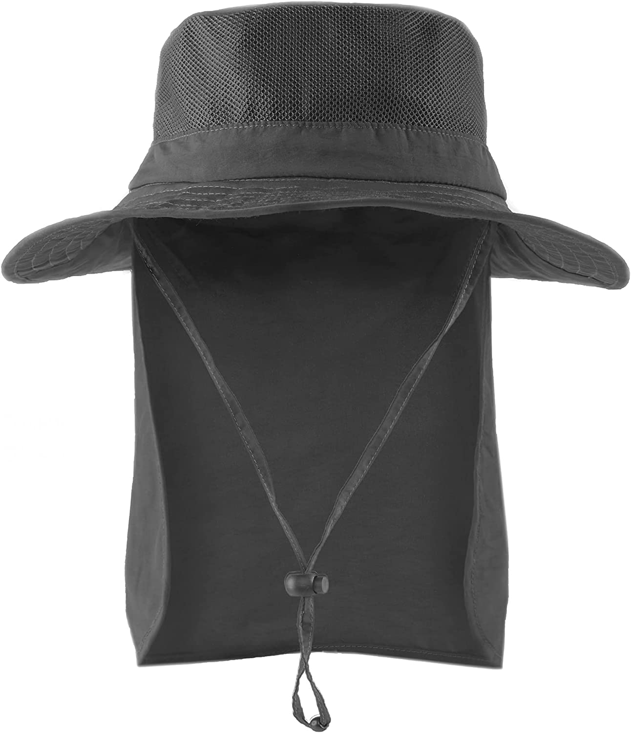 Camptrace Sun Hat for Men Women Wide Brim Fishing Hiking Hat Sun Protection Bucket Hat with Neck Flap UPF 50+