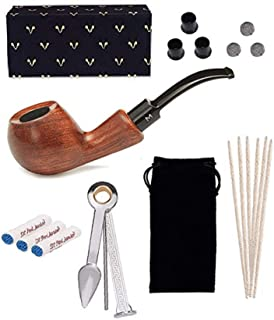 Tobacco Pipes for Smoking, Free Boy, 9mm Tobacco Pipe, Come with Pipe Filters, Pipe Cleaners, 3-in-1 Pipe Scraper, Pipe Metal Balls and Pipe Bits
