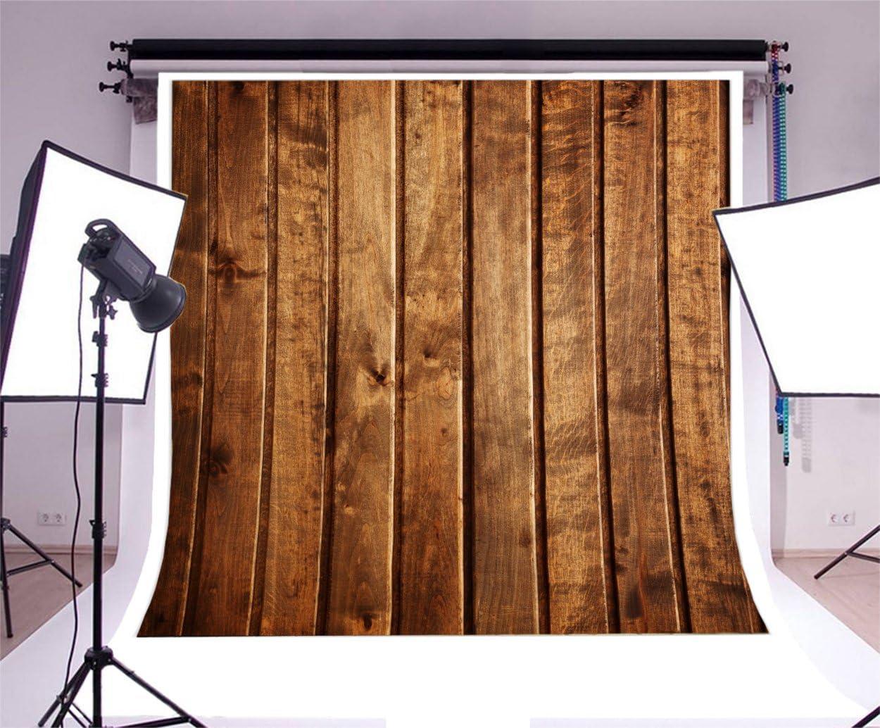 Leowefowa 10X10FT Shabby Wood Backdrop Nostalgia Stripes Wooden Floor Backdrops for Photography Rustic Plank Vinyl Photo Background Kids Adults Portraits Studio Props