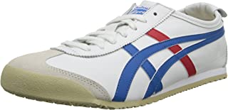 Onitsuka Tiger Mexico 66 Fashion Sneaker, White/Blue, 9 M Men's US/10.5 Women's M US