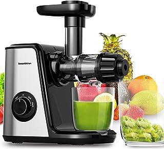 comprar comparacion Bonsenkitchen Extractor de Zumos para Verduras y Frutas, Licuadora Prensado en Frio con Función inversa, Extractor de Jugo...