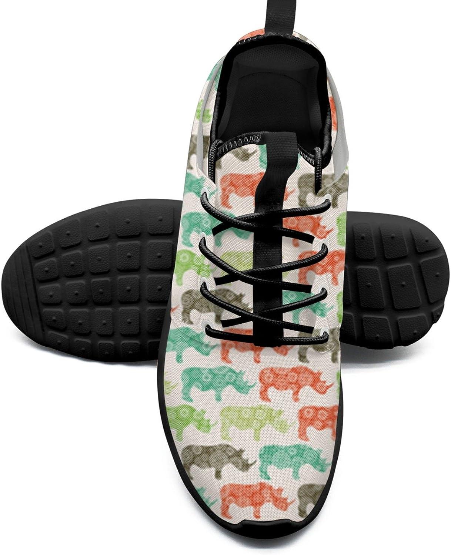 colorful Rhino Net Women's Sports shoes Retro Mesh Lightweight Running Sneakers