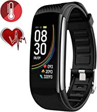 RRLOM Blood Oxygen SpO2 Heart Rate Monitor Blood Pressure Fitness Activity Tracker with..