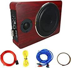 8'' 600W Under Seat Car Active Sub Woofer Speaker Stereo Bass Audio Powered Amp