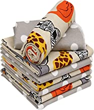 "Ruvanti 6 Pack Multi-Color Baby Receiving Blanket.100% Cotton Flannel Receiving Blanket. Extra Large (30 X30"") Baby Blanke..."