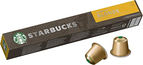 Starbucks by Nespresso Blonde Espresso Roast Coffee Pods 10 Capsules