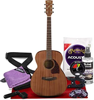 Ibanez PC12MH Mahogany Grand Concert Acoustic Guitar with Tuner + Deluxe Instrument Accessory Bundle