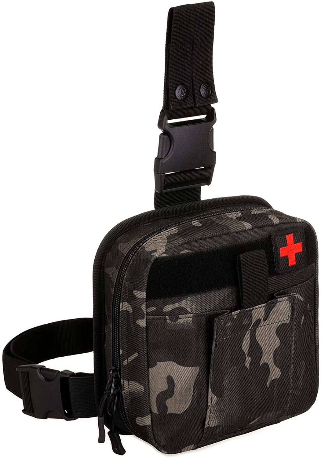 First Aid Kit Waist Bag, Men Nylon Belt Pack BagsAccessory First Aid Waist Molle Medical Bag Suitable for Camping Hiking Survival Activities
