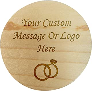 Custom Personalized Maple Wood Ring Box 3D Laser Engraved Holder Rustic Relationship Keepsake Wedding, Proposal, Engagement, Ring Bearer, Promise Ring (Custom Message)