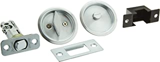 Kwikset 335 Round Bed/Bath Pocket Door Lock in Satin Chrome