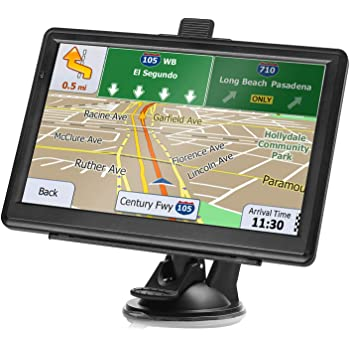 GPS Navigation for Car, 7 Inch HD Touch Screen Car GPS Voice Broadcast Navigation with 8GB Large Storage, North America map (USA, Canada, Mexico) Lifetime Map Free Update
