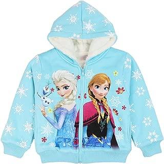 Girls' Frozen Thick Plush Hoodies for Winter Sweatshirt