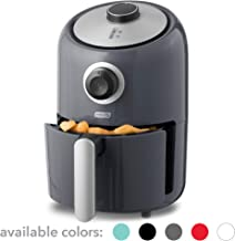 Dash DCAF150GBGY02 Compact Air Fryer Oven Cooker with Temperature Control, Non Stick Fry Basket, Recipe Guide + Auto Shut off Feature, 2qt, Grey
