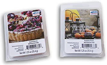 Seasonal Decor Autumn & Winter Scents Wax Cubes 2 Pack Bundle - Sugared Berries and Pumpkins & Plums