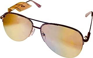 Fila Mens Rimless Metal Matt Gold Aviator Sunglass, Flash Lens SF9948 61648X